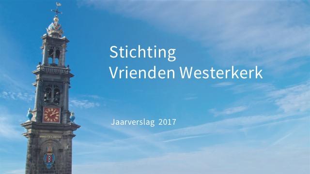 Jaarrekening Stichting Vrienden Westerkerk